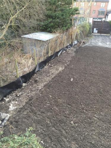 Root Barrier Membrane Install 3