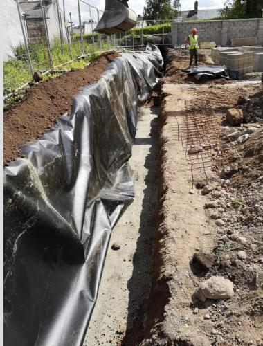 Root Barrier Membrane Install 2
